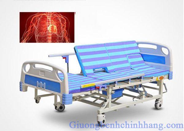 Giường bệnh nhân 4 tay quay Akiko A84