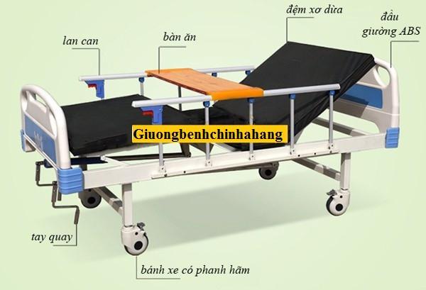 Giường bệnh nhân 2 tay quay Nakito NK02