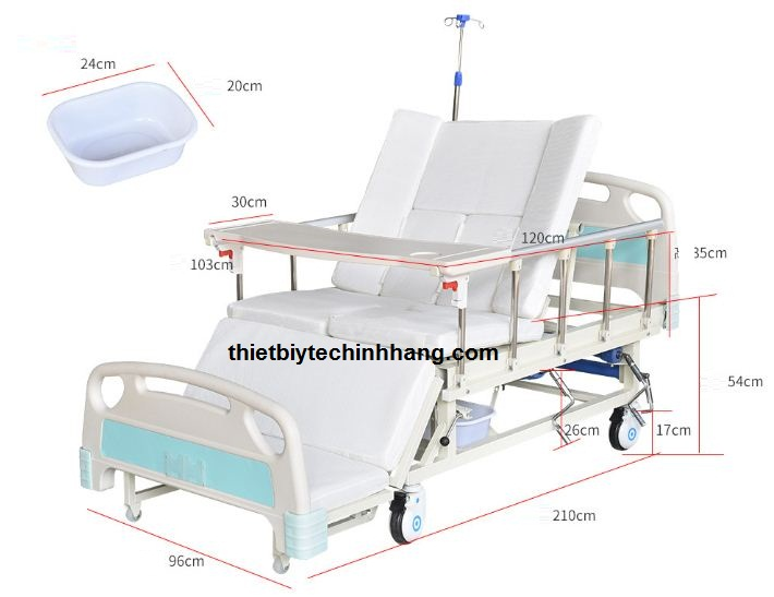 giường bệnh nhân 4 tay quay