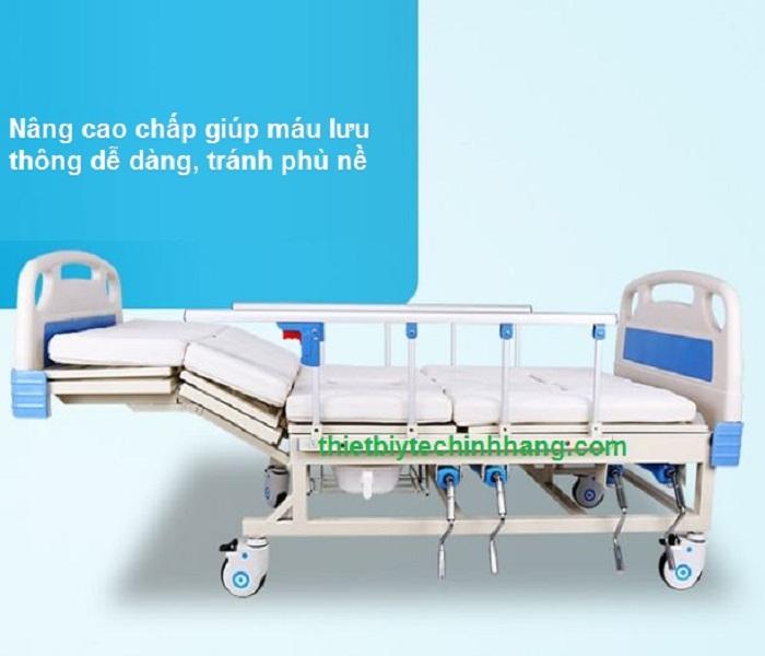 giường bệnh nhân đa năng 5 tay quay