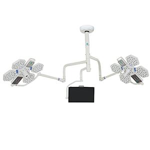 Đèn mổ treo trần LED 2 nhánh 5 cánh có màn hình